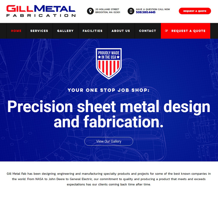 Gill Metal Consumer Web Design